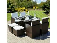 9 Piece Cube Garden Furniture Set - BRAND NEW
