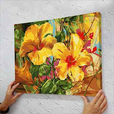 """16""""x20"""" Paint By Number Kit Digital On Canvas DIY Oil Painting - Canna"""