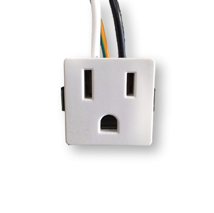 3 Wire 2 Pole Snap-In Convenience Outlet 15Amps 125V 12444
