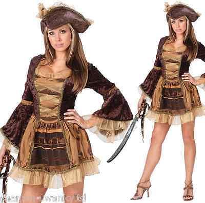 Damen Sexy Viktorianisch Piraten Halloween Party Kostüm Kleid Outfit