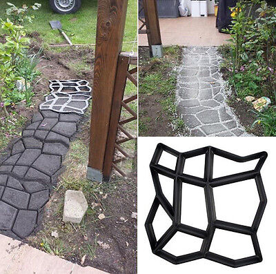 New Driveway Paving Pavement Mold Patio Concrete Stepping Stone Walk Maker DIY