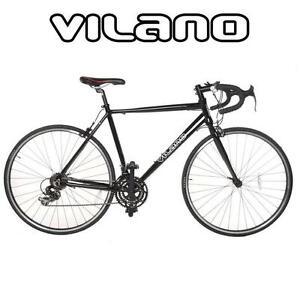 NEW* VILANO MEN'S ALUMINUM BIKE - 115342289 - BICYCLE 21-Speed Shimano Aluminum Road Bike (Black, 54cm/MEDIUM)