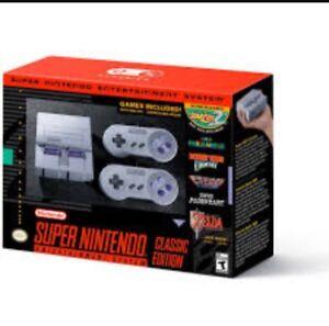 Super Nintendo- Brand new.