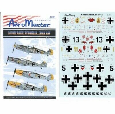 AEROMASTER 48-591 BF109E BATTLE OF BRITAIN EAGLE DAY PT. VI 1/48 FREE SHIPPING