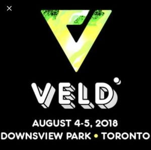 Selling 2 Day General Admission Veld ticket
