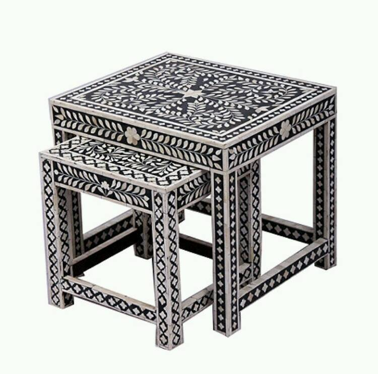 Super Indian Moroccan Boho Bone Inlay Coffee Table And Nest Of Tables In Bradford West Yorkshire Gumtree Dailytribune Chair Design For Home Dailytribuneorg
