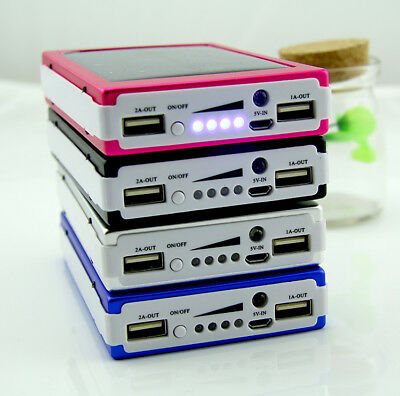 Solar Power Bank 300000mAh Portable Dual USB Battery Charger 20 LED for Phone