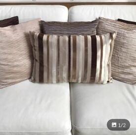 Large luxury cushions
