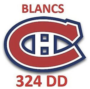 2 billets Canadiens / Sabres - 8 nov - Blanc 324 DD
