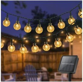 80 LED Solar String Lights Outdoor