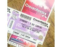Creamfields full weekend camping ticket