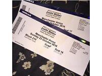 2x Justin Bieber purpose tour tickets