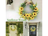 Sunflower artificial door wreath New