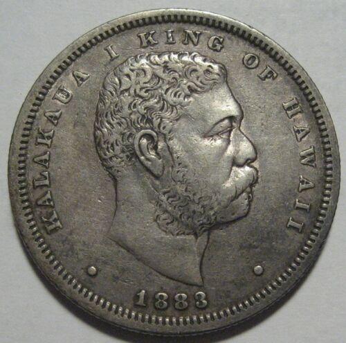 = 1883 50C XF HAWAII Kingdom of Hawaii Half, FREE Shipping