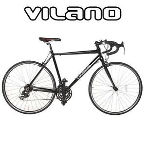 NEW* VILANO MEN'S ALUMINUM BIKE - 115342289 - BICYCLE 21-Speed Shimano Aluminum Road Bike (Black, 54cm/MEDIUM)