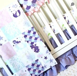 ISO Crib Bedding Set - Mermaid Theme