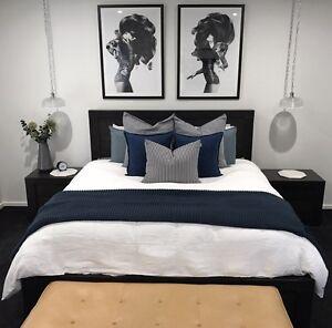Forty Winks Bedroom Suite - Bed, bedsides, lowboy Windella Maitland Area Preview