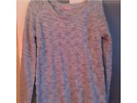 Womans baby blue cable knit jumper