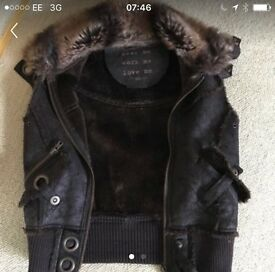 Gorgeous Brown Faux Fur and Leather Gilet