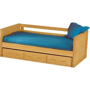 Crate Design Twin XL Capitan's Day Bed with Pull our Trundle