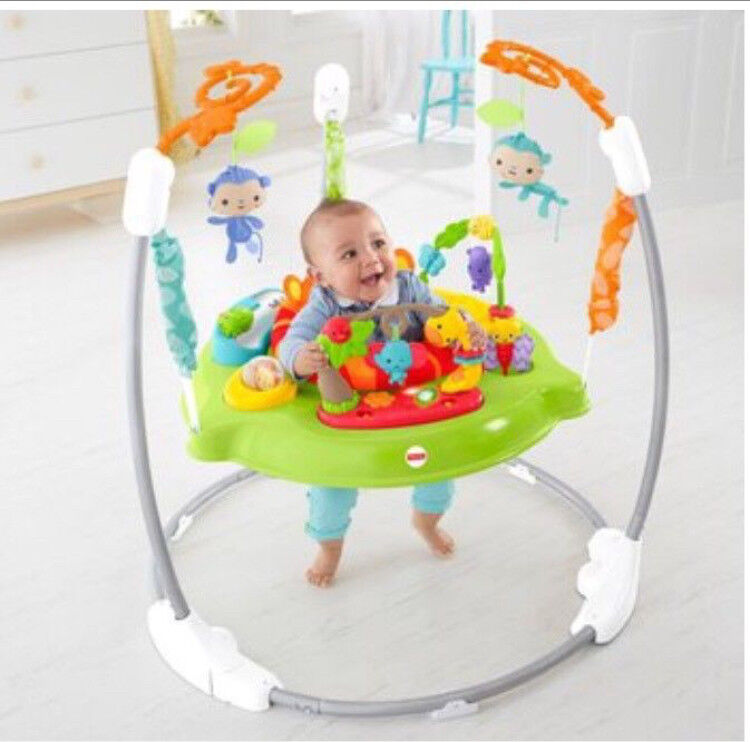 Fisherprice Rainforest Jumperoo- as new with box