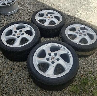 """Porsche 17"""" Twist alloy wheels, staggered"""