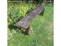 Hand made rustic wooden bench