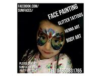 Face painting Henna charity events parties fairs princess parties weddings christening night clubs