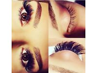 Individual Mink Eyelash Extensions or Russian Volume 3D-9D (XD) Eyelash Extensions