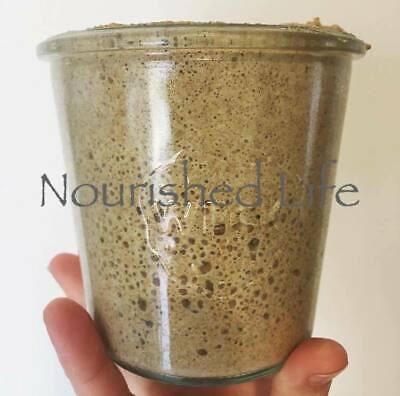 46 y/o Rye Sourdough Starter - LIVE - Probiotic - Organic - GMO Free + Support