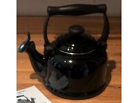 A Black Le Creuset Whistling Stove Top Kettle 2.1 Litre - Unused RRP £90