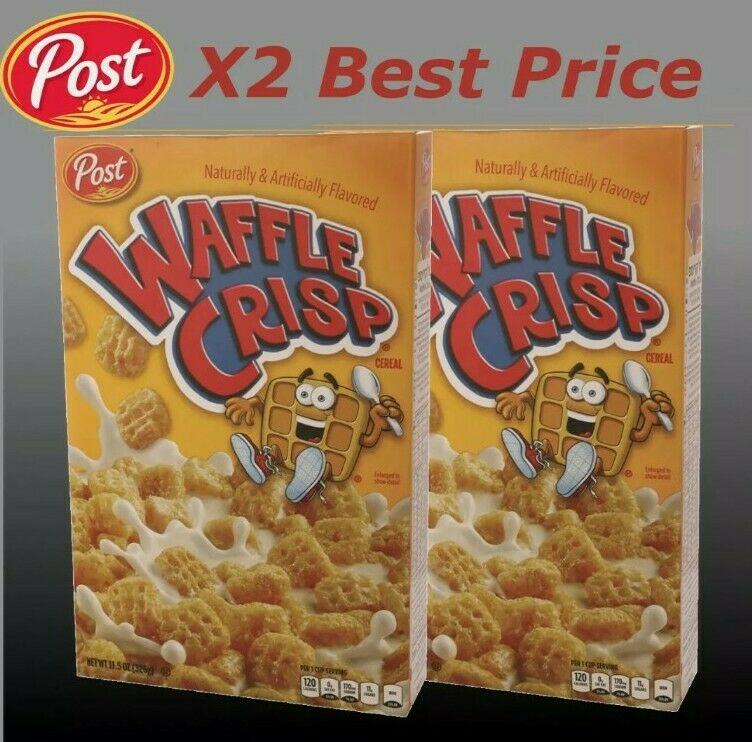 Post Waffle Crisp Cereal Waffle & Syrup rare discontinued 2pack US seller quick
