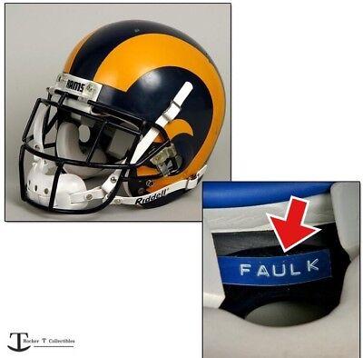 Los Angeles Rams DYMO Tape Full Size Football Helmet Nameplate St Louis Decals Louis Rams Football Helmet