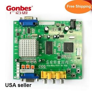 CGA-EGA-YUV-RGB-to-VGA-Arcade-game-video-Converter-Genuine-Gonbes-Model-GBS8200