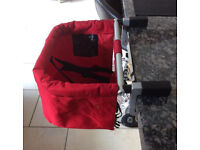 Phil & Teds MeToo Clip-on Travel/Portable Highchair. Used