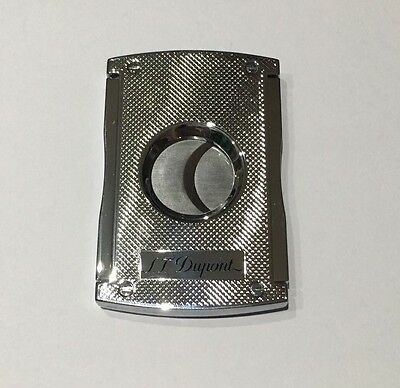 NEW S.T. Dupont Maxijet Cigar Cutter Chrome Grid Luxury High End Item