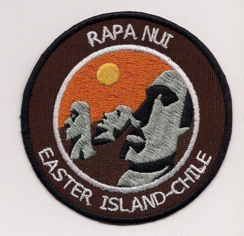 Rapa Nui Easter Island Chile Souvenir Patch Sunset