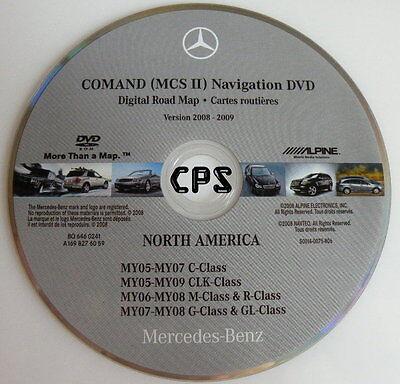 2006 2007 2008 ML320 CDI ML350 ML500 ML550 ML63 Navigation DVD Map U.S. Canada