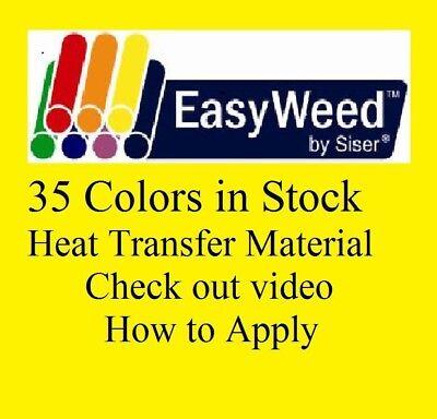 Heat Transfer Siser Easyweed Vinyl 15 X 5 Yards 15 Ft  35 Colors In Stock