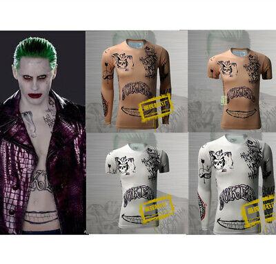 Herren Joker Print Tattoo T-shirt Hemd Batman Cosplay - Herren Joker Kostüme Tshirt