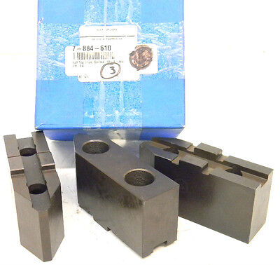 New Toolmex Tmx Soft Top Lathe Chuck Jaws 7-884-610 Tongue Groove