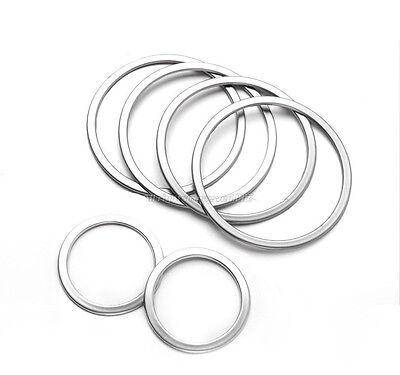 Steel Inner Door Stereo Ring Speaker Cover Trim 6pcs For