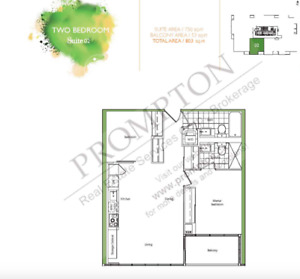 2Bdrm 2 Baths for Sale in CityPlace Toronto