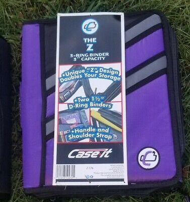 Case-it Z-binder Two-in-one 3 3 Ring Zipper Binder Purple Z-176 The Z