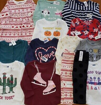 Old Navy Girls 12-18 MONTH Clothing Lot 14 PIECES Tops Pants Fall Winter #28-549