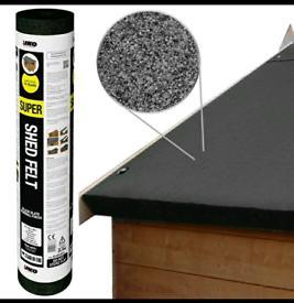 Brand new roll of black Shed Felt - 8 x 1m