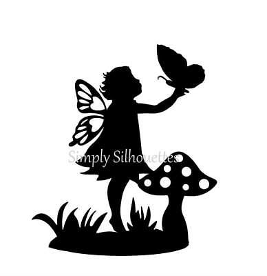 LITTLE GIRL FAIRY SILHOUETTE DIE CUTS - FAIRY LANTERNS, CARD TOPPERS