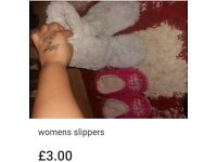 Womens slippers bundle size 5