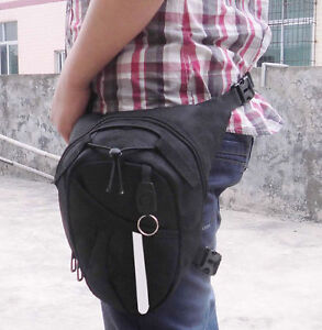 Motorcycle Drop Leg Waist Hip Bag pack No Name . Brand New Sale