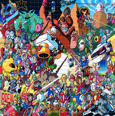 CLASSIC VIDEO GAME ICONS BLOTTER ART perforated psychedelic LSD Acid Art paper